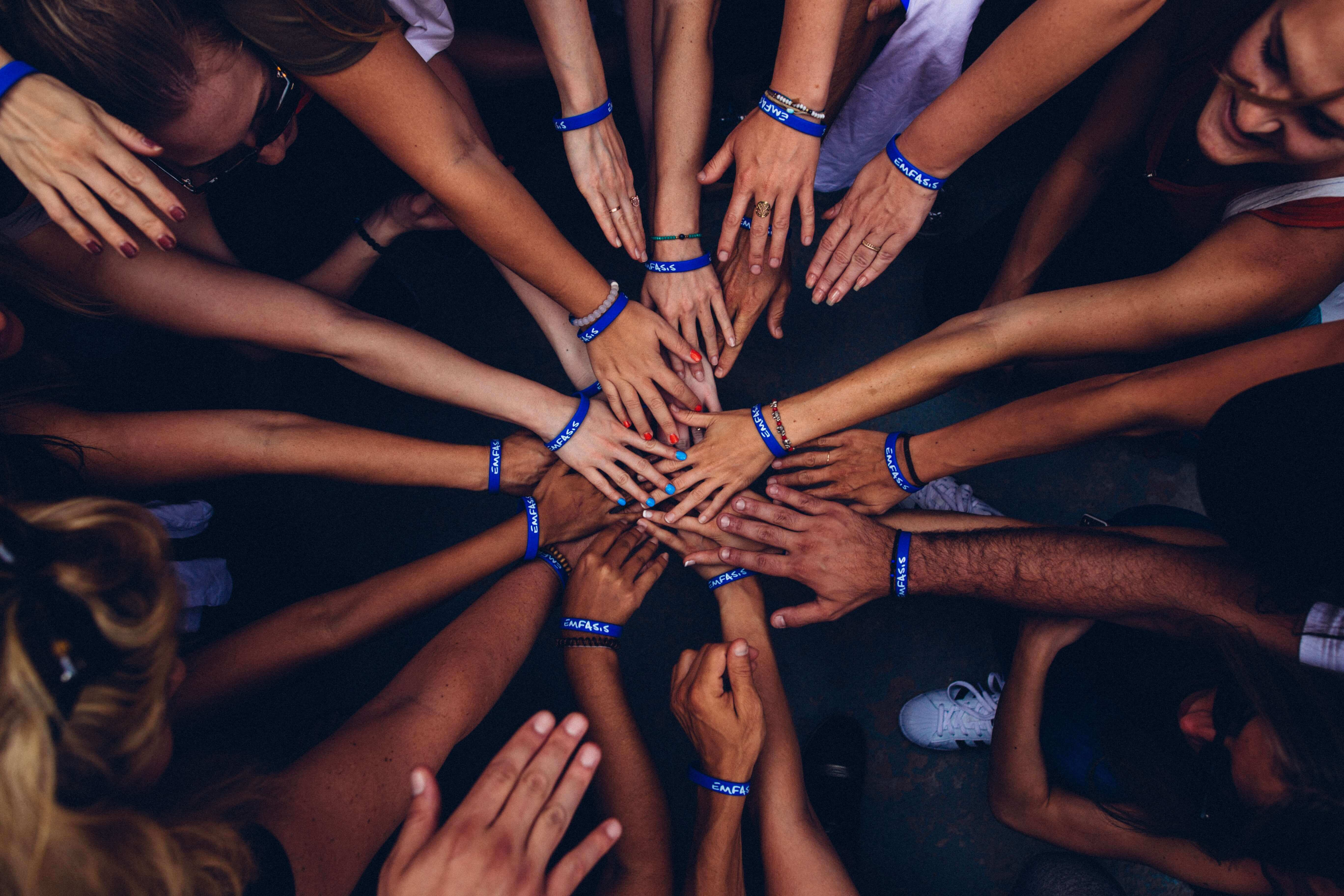 hands community together