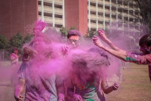 Playing Holi with Gulal.  Photo by Darpan Dodiya on Unsplash